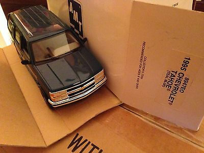 1995 Chevy Tahoe Teal Blue NEW IN BOX Dealer Promo Model Car