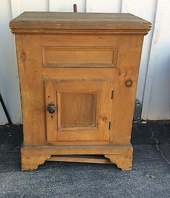 Antique Ice Box Wood Metal Insert Pick Up Only