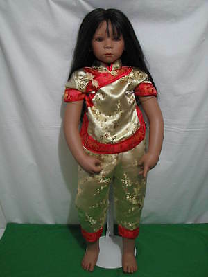 """Annette Himstedt """"josine"""" Doll 2004 Limited Ed 277 Redressed Rewigged 36"""" Tall"""