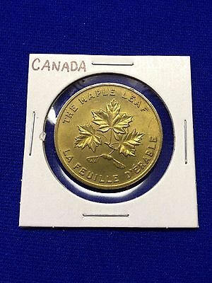 "Canada Commemorative ""maple Leaf"" Token - Made By Shell Oil Co - Lot H-3"