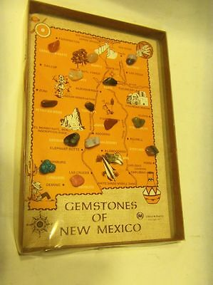 Vintage1971 - Gemstones of New Mexico - Map Travel Souvenir
