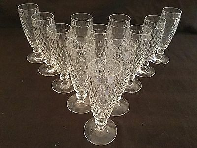 Villeroy & Boch Set Of 12 Boston Clear Champagne Flutes Glasses