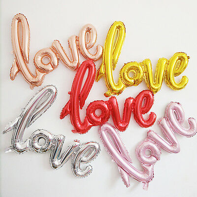 """1Pc 40"""" Love Letter Foil Helium Balloons Birthday Wedding Party Decoration"""