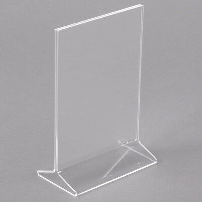 Lot of 15 Crystal clear acrylic sign holder/table tent for display menu 4X6""