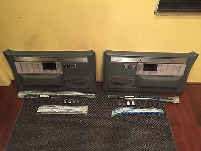 1981-87 Silverado K5 Medium Grey Door Panel Set Restored!! Nice!!!