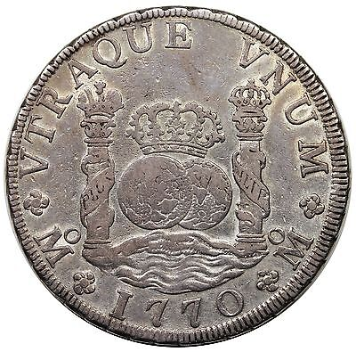 1770-Mo FM Mexico 8 Reales, Charles III, VF-XF