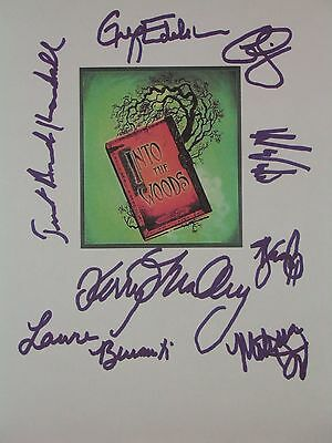 Into The Woods Broadway Musical Signed Script X8 Laura Bernati Greg Edelman rpnt