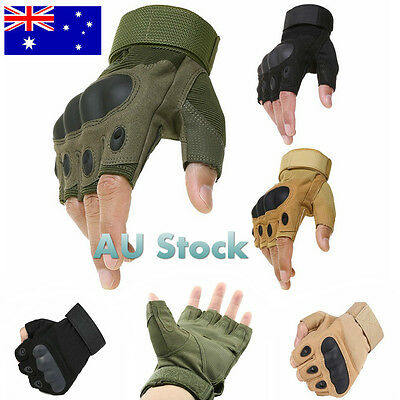 Men's Outdoor Tactical Gloves Athletic Half Finger Military Army Driving Cycling