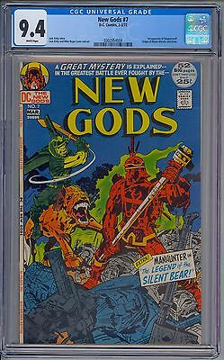 NEW GODS #7 - CGC 9.4 WHITE - NM - First STEPPENWOLF