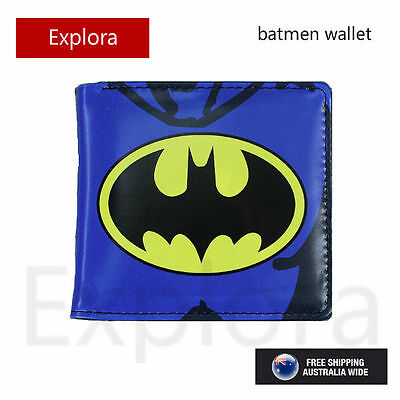 Boys Girls Kids Teenage Biofold PU Leather Wallet -- Batman Logo