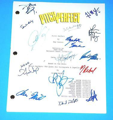 Pitch Perfect Signed Script Anna Kendrick  Anna Camp  Brittany Snow  Rebel