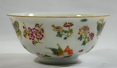 Fine Antique Chinese Famille Rose Porcelain bowl, qianglong Mark