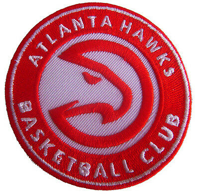 New NBA Atltanta Hawks logo Embroidered Iron on Patch. 3 inch (IB25)