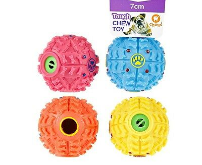 4 PACK- Pet Dog Puppy Toy Small Giggle Ball Treat Ball Wobble Wag Indoor Outdoor