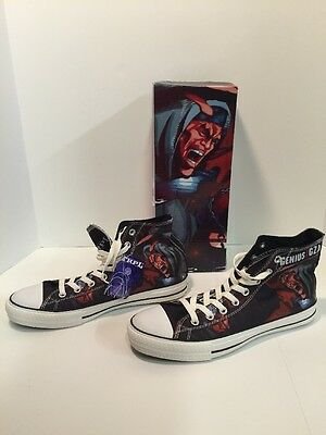 Gza-Liquid Swords, Wu-Tang, Trpl Threat Hip Hop Sneakers Chuck Style Men Sz 9