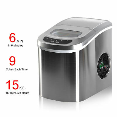 LCD Control Portable Ice Maker Machine 2L Commercial Home Automatic Cube