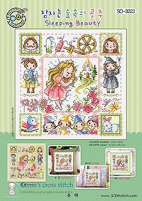 Sleeping Beauty Counted cross stitch chart or Kit.  SODAstitch SO-3223
