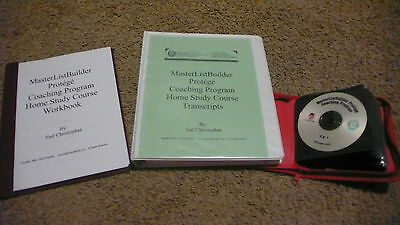 NEW MasterListBuilder Protege Coaching Program by Joel Christopher WorkBook CDs
