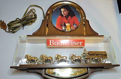 Vintage Budweiser Compact Clydesdale Spectacular Sign Anheuser Busch
