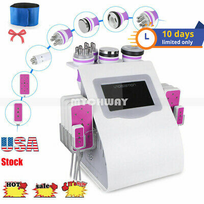 6-1 Ultrasonic Vacuum Cavitation Radio Frequency Anti Age Cellulite Loss Machine