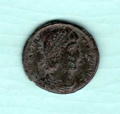 Roman Empire 2000 Years Old Extremely RARE King Portrait Copper Coin B71