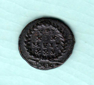 Roman Empire 2000 Years Old Extremely RARE King Portrait Copper Coin B72