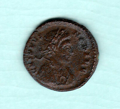 Roman Empire 2000 Years Old Extremely RARE King Portrait Copper Coin B73