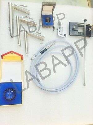 Fiber Optic Operating Laryngoscope with cable & 20-D  90D indian Lens labapp-12