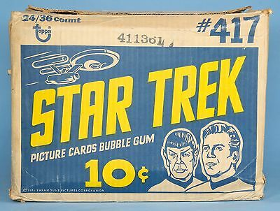 STAR TREK 1976 Topps Wax Gum Card Box Shipping Carton/Case Kirk Spock