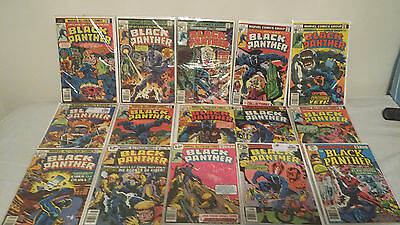 Black Panther #1 to #15 Complete collection  Vol 1 (1977)  1st Prints  FN/VFN