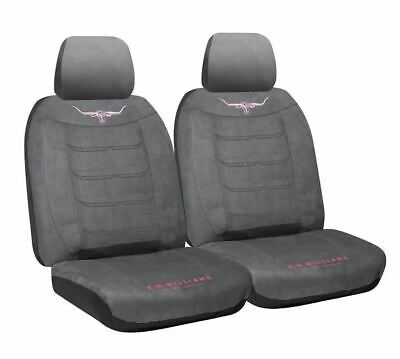 RM Williams RMW Jillaroo Longhorn Suede Velour Seat Covers Suit Most Cars Pair