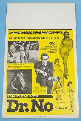 DR. NO 1962 Original Vintage Benton 14x22 Window Card Different ART Sean Connery