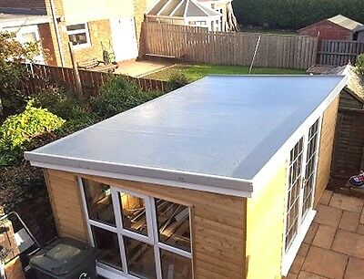 Complete single Garage GRP Roof kit Inc Trims and Tools