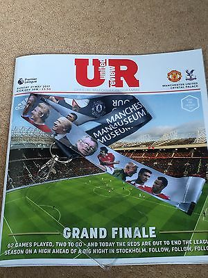 Manchester United Final Programme 2017 & Picture Badge Holder