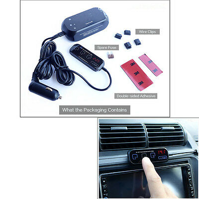 Car 3 Way Cigarette Lighter Socket Outlet Adapter/Splitter Touch Switch Dual USB