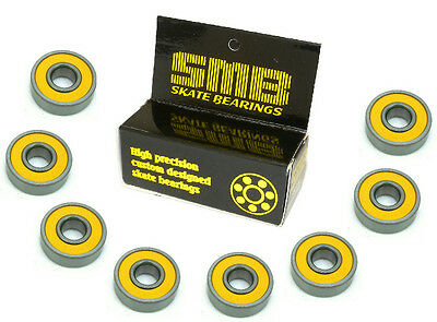 High Speed, Low Friction SMB Precision Skate Bearings (8 bearings)
