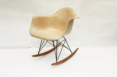 Fauteuil Rocking chair Charles Eames Herman Miller original vintage Chaise Brown