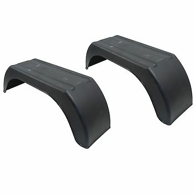"Mudguard for Trailer Wheels 8"" Plastic PAIR / Wing / Fender TR001"