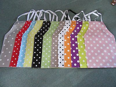 Polka Dot Pvc Aprons In 4 Sizes