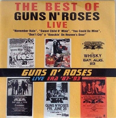 GUNS N'ROSES  Spain The best of live Maxi Cd Promotional