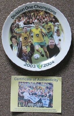2003/04 Norwich City Champions Division 1 Plate. EDP Limited Edition.