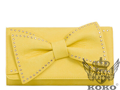 Bow Tie Detail Design Brand Fashion Style Ladies Evening Party Clutch Bags L808