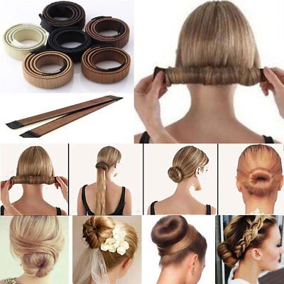 Women's Hair Donut Bun Maker French Twist Hairstyle Magic Roll Rings DIY Tool