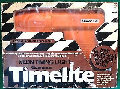 Gunsons Timelite Neon Timing Light Ignition Diagnostic Classic Car Tuning Tool