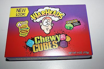 2 x WARHEADS Chewy Cubes 113g each box