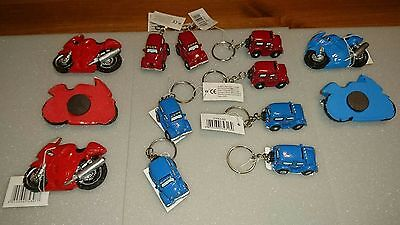 Novelty Motorcycle magnet / Truck keyring. Trinkets. Stocking fillers. Gifts.