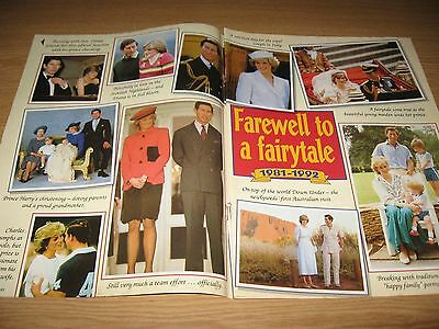 PRINCESS DIANA & PRINCE CHARLES 2 page magazine clipping FAREWELL TO A FAIRYTALE