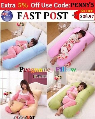 Maternity Pillow Pregnancy Nursing Sleeping Body Support Feeding blue pink beige