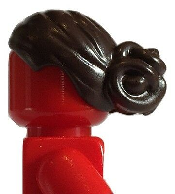 Female brown hair pony tail Lego for minifigures