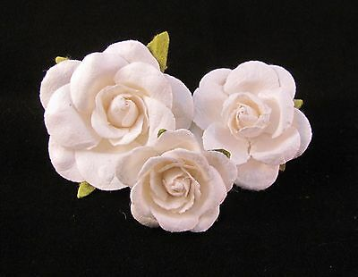 White Rose Flower Lapel Pin Small, Medium,Large Size Weddings / Prom / Everyday